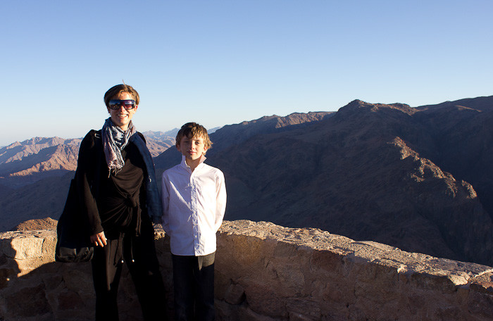 Zac and I on Mount Sinai.