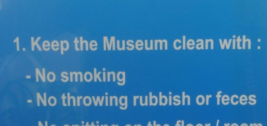 """ATTENTION. 1. Keep the Museum clean with: - No smoking -No throwing rubbish or feces - No spitting on the floor / room - No eating and drinking in the showroom"