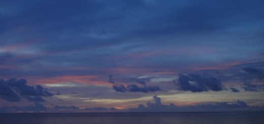 sunset over sulawesi sea
