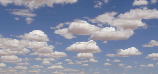 little fluffy clouds across an Outback sky