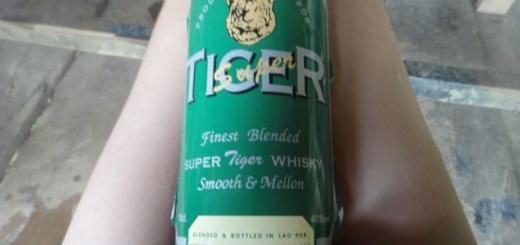 Tiger Whisky Label