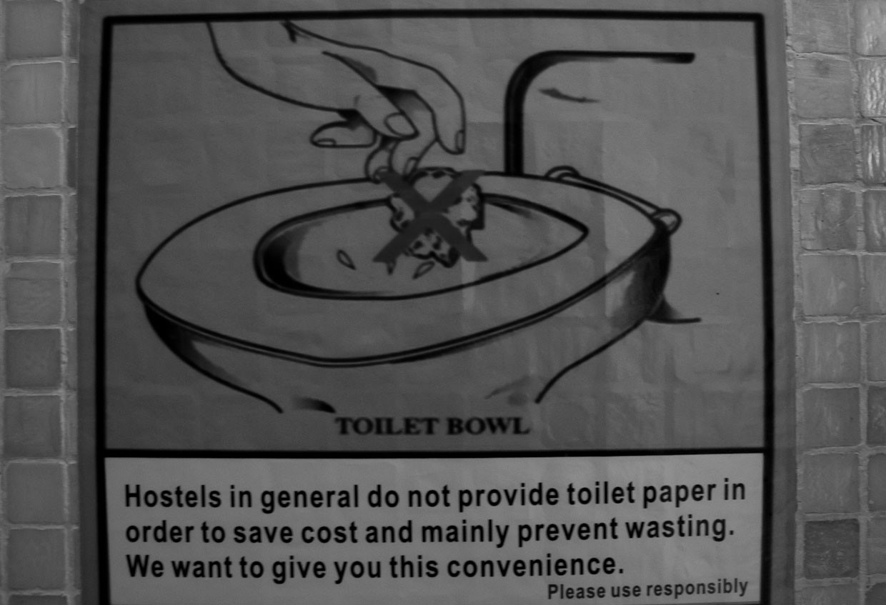 Toilet paper sign in Chinese hostel.  sc 1 st  EscapeArtistes : door blocked sign - pezcame.com