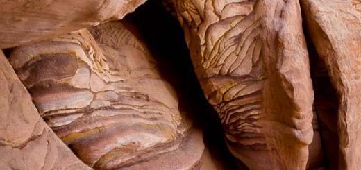 Stripy boulders in Petra.