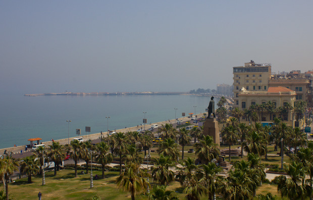 View of Alexandria corniche and Saad Zaghloul square.