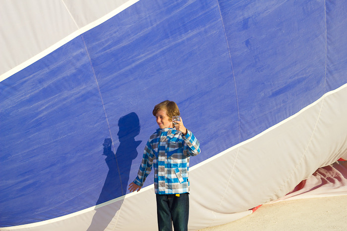 "Zac toasting his first hot air balloon flight in Russian ""champagne""."