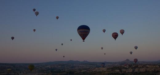 Ballooning in Cappadocia, Turkey.