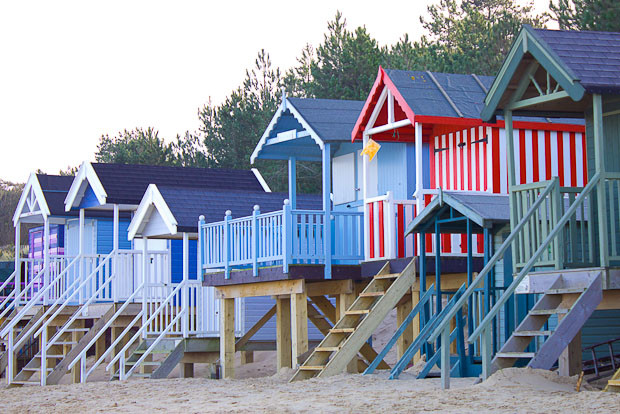 Beach huts at Wells, norfolk.