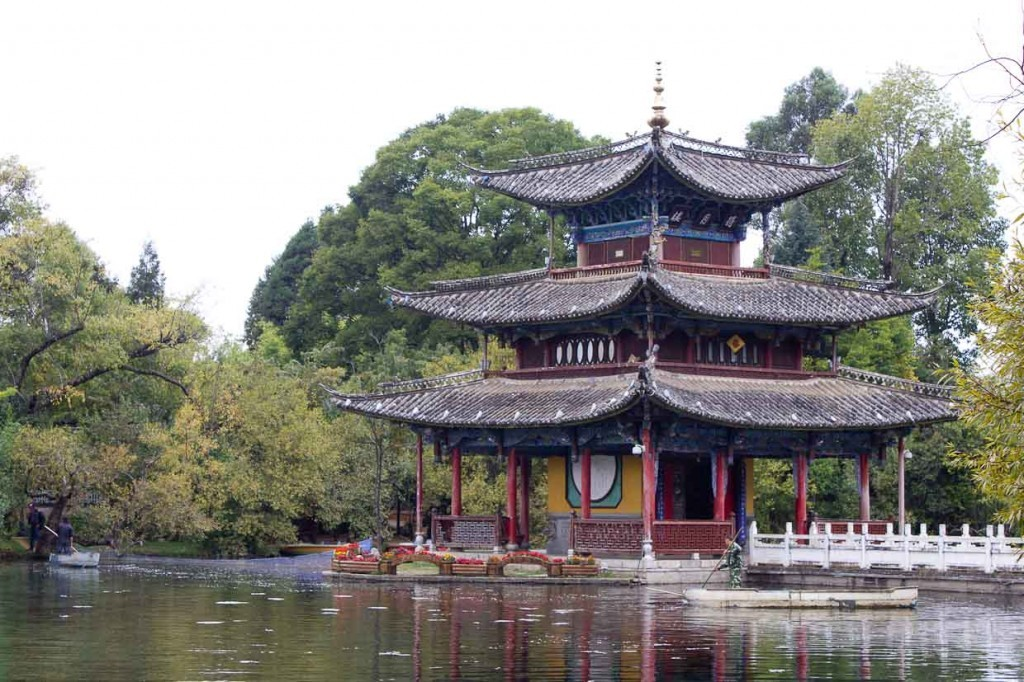 Pagoda in Black Dragon Pool, Lijiang.