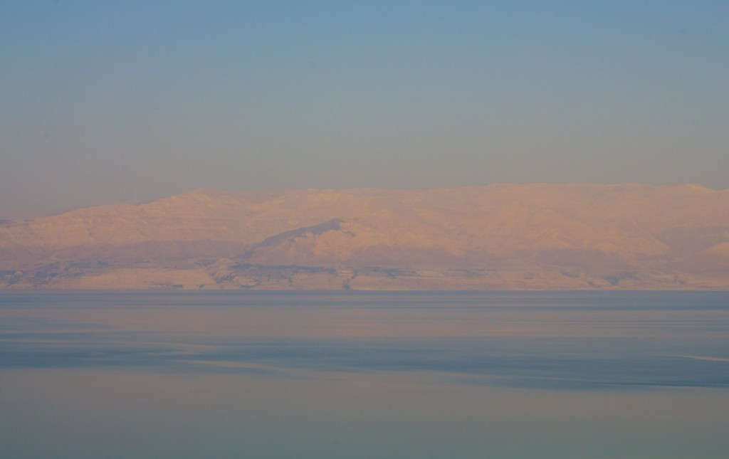 View over the Dead Sea from Israel late afternoon.