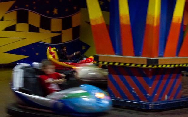 Dodgems at the Berjaya Times Square theme park, Kuala Lumpur, Malaysia.