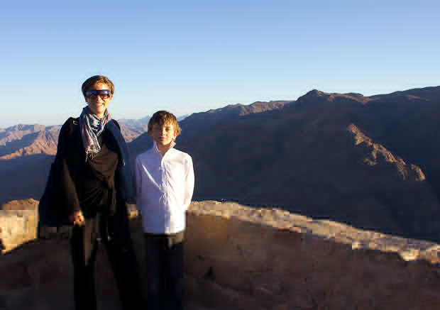 Z and I standing on the top of Mount Sinai.