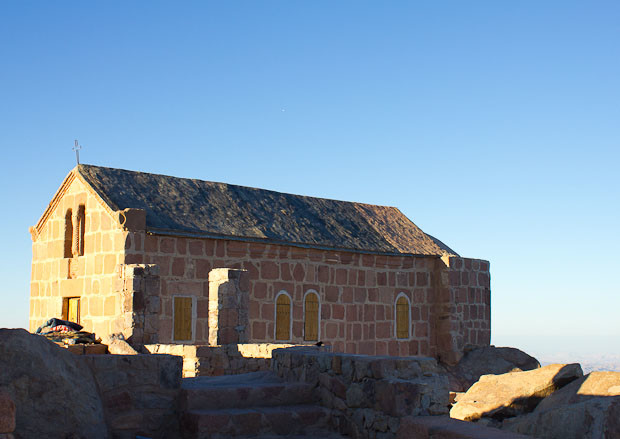 The  church on the top of Mount Sinai, Egypt.