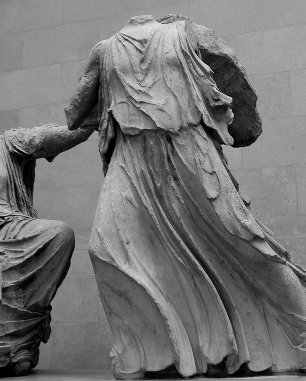 Detail of one of the Parthenon Sculptures.