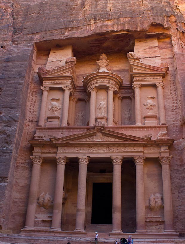View of the treasury at Petra