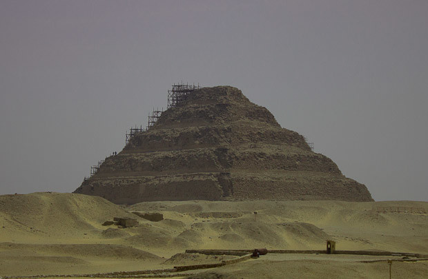 The Step Pyramid of Zoser (Djoser) at Sakkara, Cairo, Egypt.