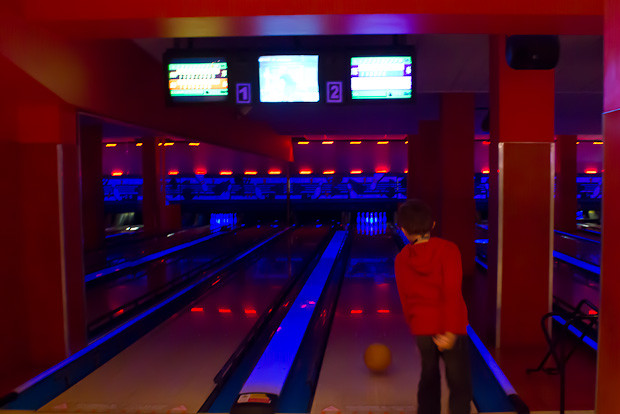 Bowling at Queens Ice and Bowl.