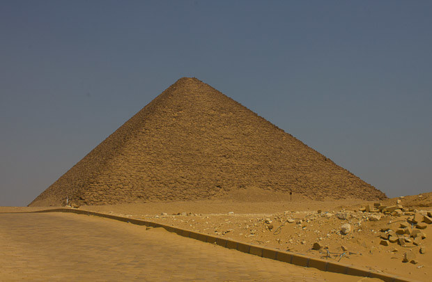 The red pyramid at Dahshur, Cairo, Egypt.