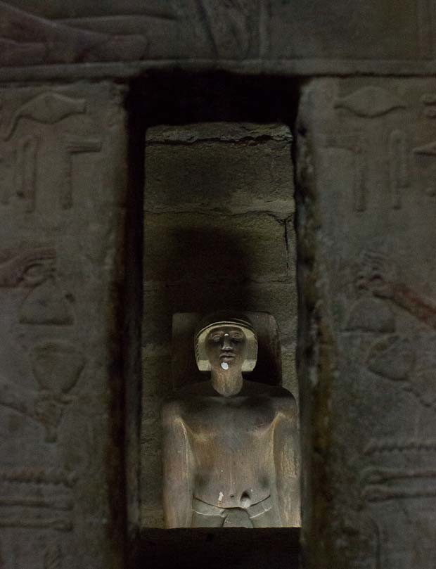 Sculpted model of noble, designed to contain his soul, Sakkara, Cairo, Egypt.