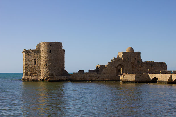 Crusader sea fort at Sidon, Lebanon.