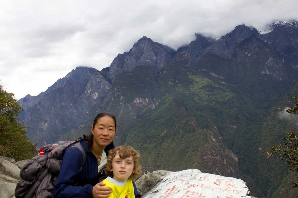 Z and Wangmo in Tiger Leaping Gorge.