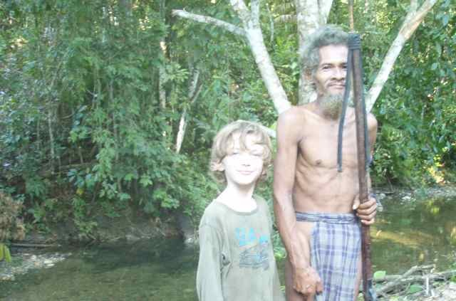 Z with Luobo, a member of the Togutil minority.