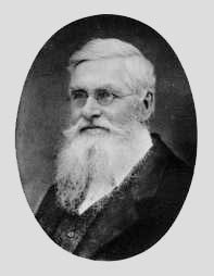 Black and white photograph of Alfred Russel Wallace after his hunting days were gone.