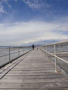 Zac and his grandfather on the longest jetty in the southern hemisphere