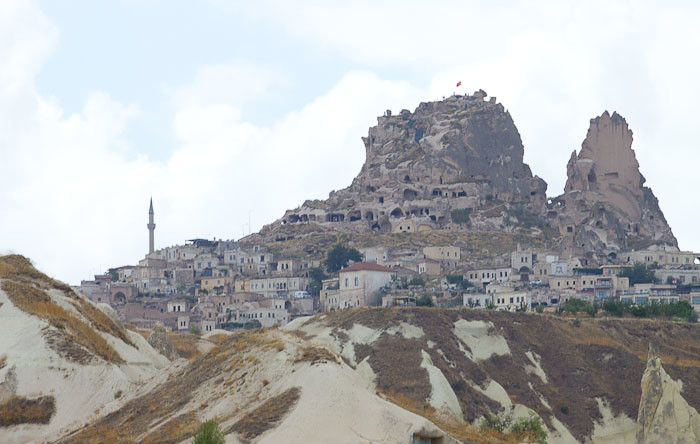 """the jagged tooth of Uchisar """"castle"""", Cappadocia."""