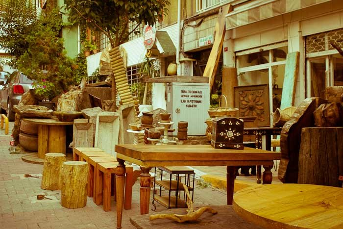 Furniture on pavement, Cihangir Istanbul.