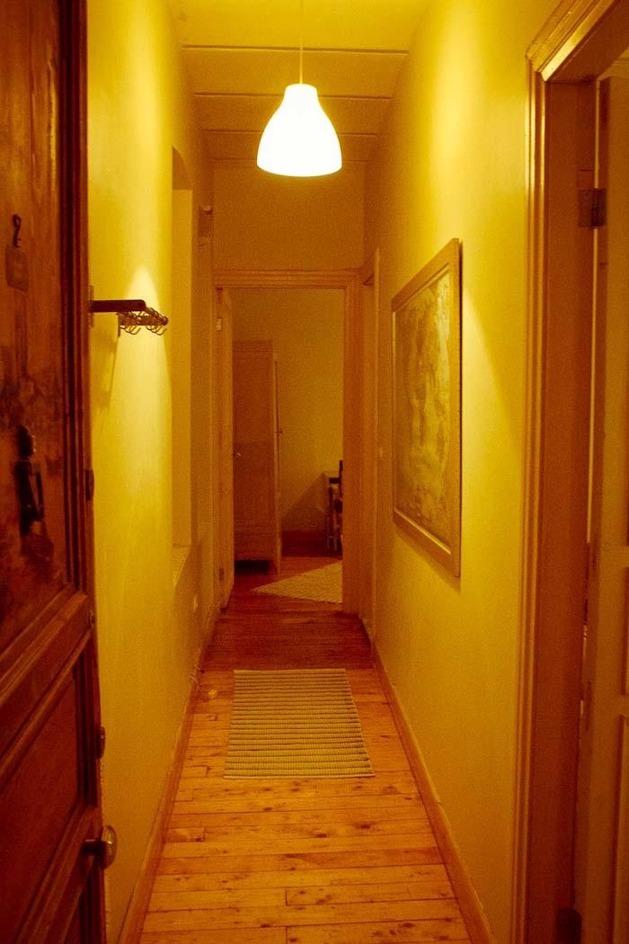 Corridor of our Wimdu apartment in Cihangir, Istanbul.