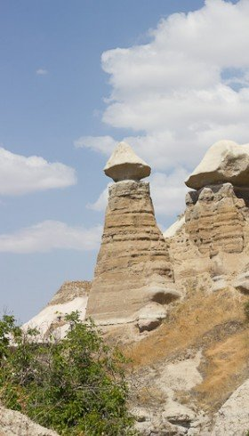 Phallic rock in Pigeon Valley, Cappadocia.