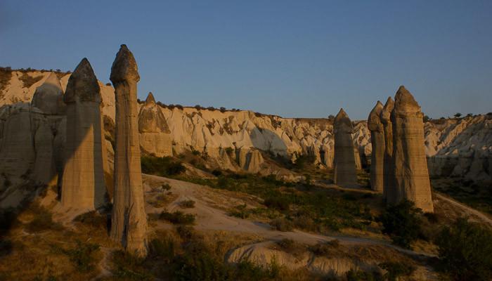 Rocks in Love Valley, AKA Viagra Valley, Cappadocia.