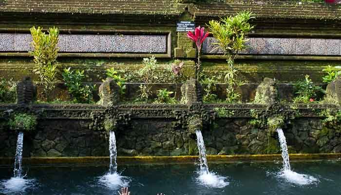 The swimming pools at Tampaksiring temple, Bali.