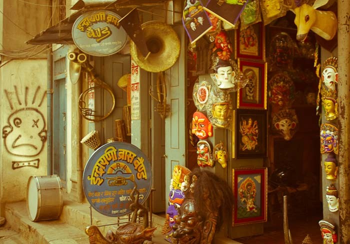 Musical instrument street, Kathmandu, Nepal.