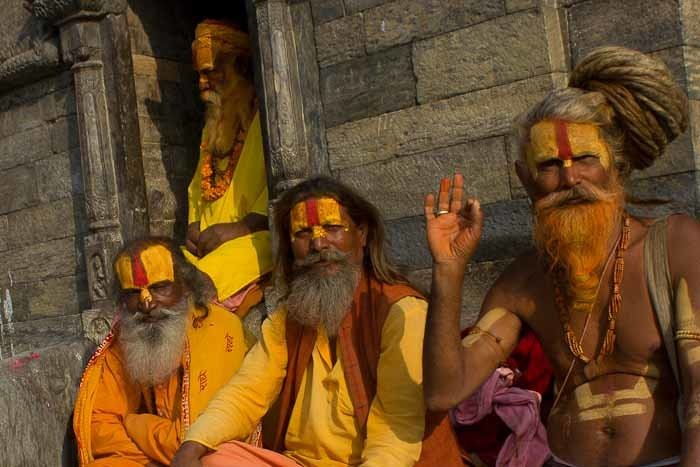 group of Sadhu at Pashupatinath, Nepal.