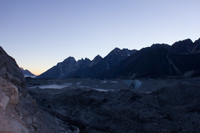 Everest Base Camp trek: view across Ngozumba moraine, Gokyo Valley.