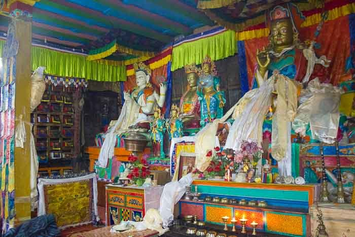 Everest Base Camp: interior of Khumjung Monastery.
