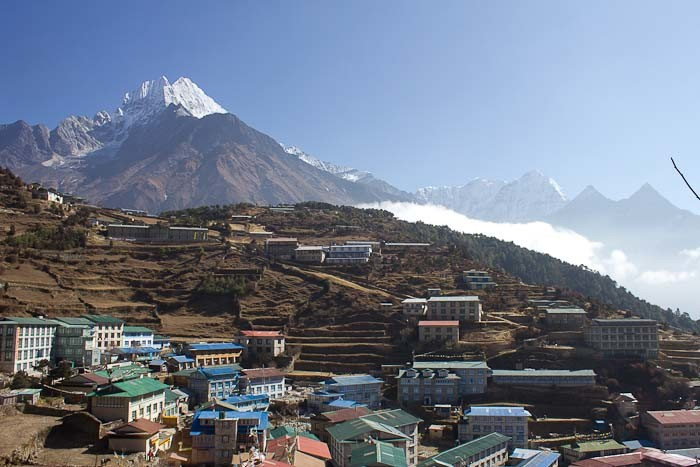 Everest Base Camp: view across Namche Bazar.