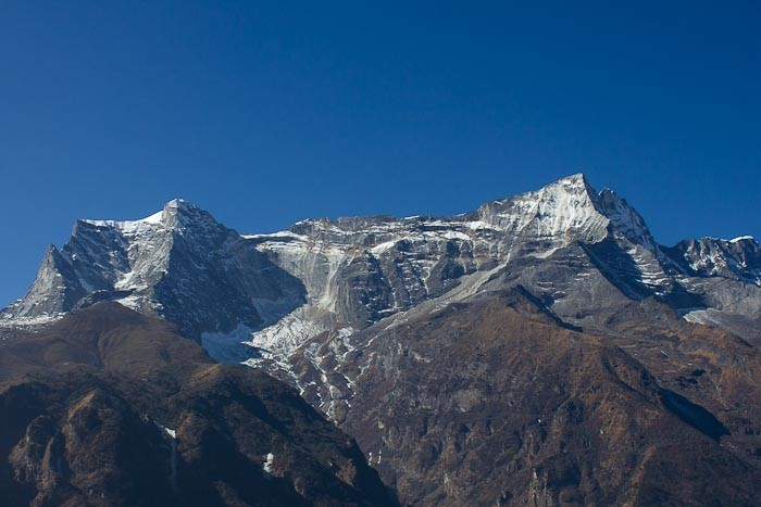 Everest Base Camp trek: Kong De viewed from Namche Bazar.