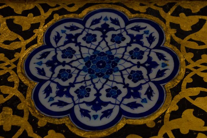 Detail of Turkish bluework.