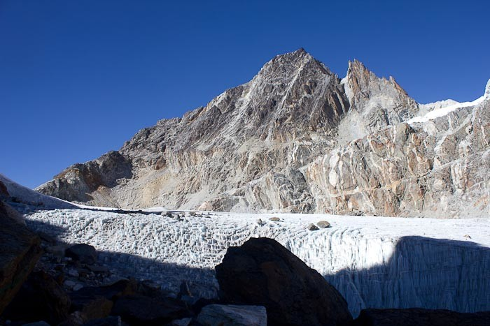 Base of ice fall