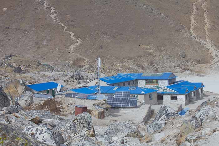 Everest Base Camp trek: lodge at Gorak Shep.