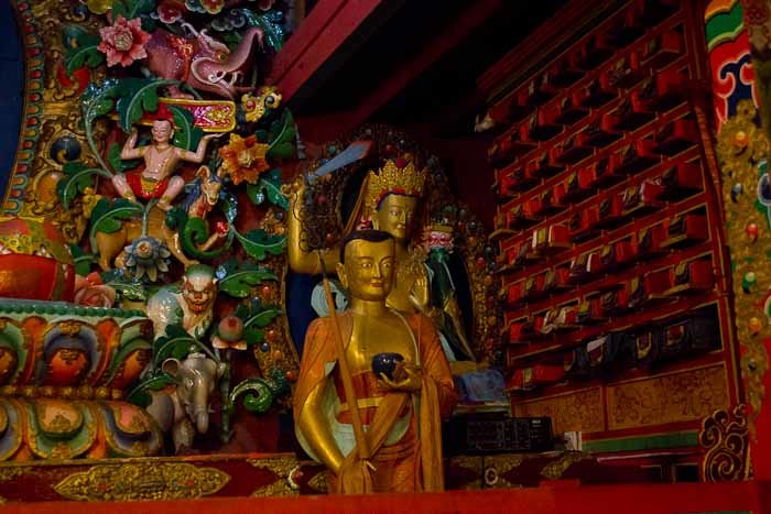 Everest Base Camp trek: interior of Tengboche monastery.