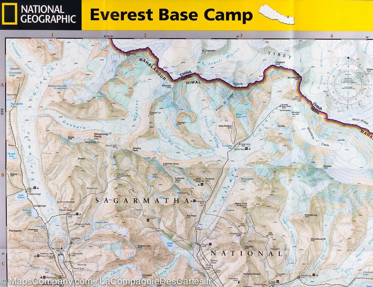 National Geographic's Everest Base Camp map.