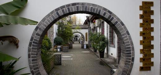 Accommodation in China: view of YHA hostel in Xian.