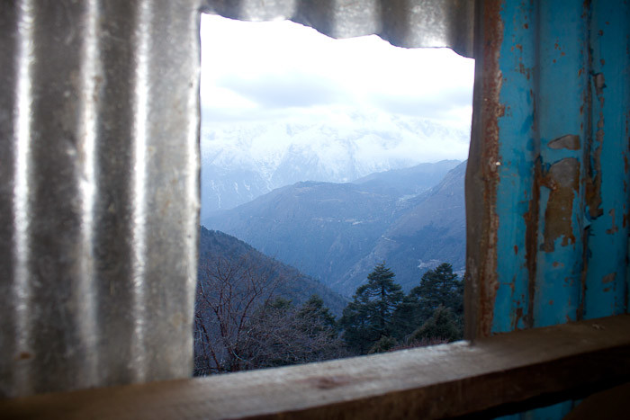 Pictures of Nepal: a loo with a view in Tengboche.