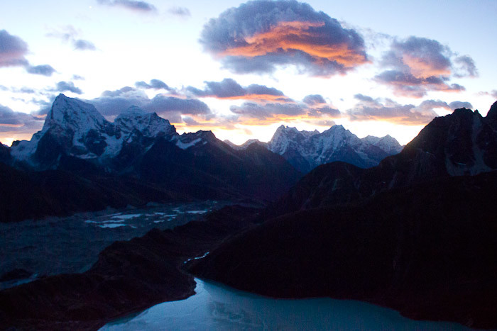 Pictures of Nepal: sunrise from Gokyo Ri.