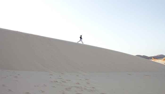 Things for kids to do in Egypt: run down a sand dune.