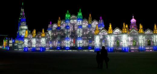 Ice Palace at the Harbin Ice Festival.