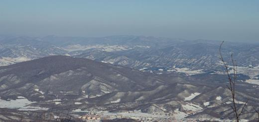 View from the slopes at Yabuli Ski resort, China.